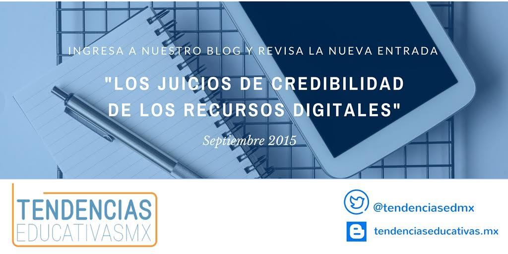 Juicios de credibilidad sobre los recursos digitales